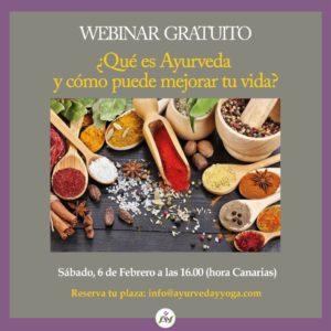 WEBINAR gratuito de AYURVEDA