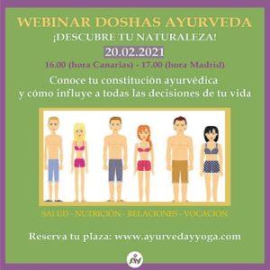 webinar DOSHAS AYURVEDA