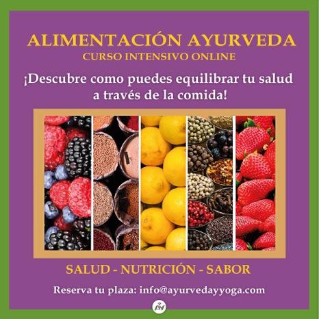 CURSO online ALIMENTACIÓN AYURVEDA